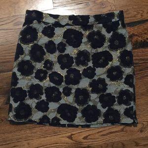 Sam Edelman brocade texture mini skirt 8 metallic